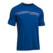 Mens Under Armour Threadborne Cross Chest Short Sleeve Technical Tops