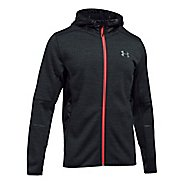 Mens Under Armour Swacket Novelty Full-Zip Running Jackets - Black 3XL-T
