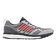 Mens adidas adizero Tempo 9 Running Shoe - Grey/Red 11