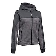 Womens Under Armour Herringbone Swacket Cold Weather Jackets - Black XL