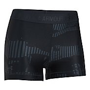 Womens Under Armour HeatGear Printed Shorty Compression & Fitted Shorts - Stealth Grey/Black L