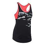 Womens Under Armour HeatGear 2-in-1 Printed Sleeveless & Tank Tops Technical Tops - Black/Red L