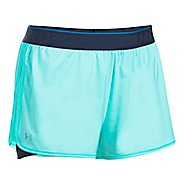 Womens Under Armour HeatGear 2-in-1 Shorts - Blue Infinity/Navy M