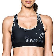 Womens Under Armour Crossback Deboss Band Sports Bras - Black L