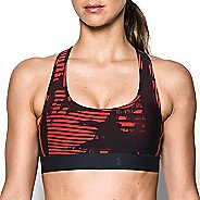 Womens Under Armour Crossback Deboss Band Sports Bras - Stealth Grey XS