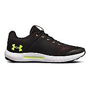 Kids Under Armour Pursuit Running Shoe - Black/White 3.5Y