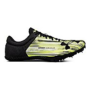 Mens Under Armour Kick Sprint Track and Field Shoe - Neon/Black 7.5