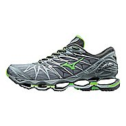 Mens Mizuno Wave Prophecy 7 Running Shoe - Grey/Green 8.5