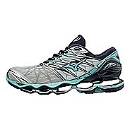 Womens Mizuno Wave Prophecy 7 Running Shoe - Grey/Blue 8.5