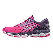 Womens Mizuno Wave Horizon 2 Running Shoe - Pink/White 8.5