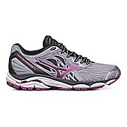 Womens Mizuno Wave Inspire 14 Running Shoe - Grey/Purple 11.5