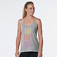 Womens R-Gear Eat, Pray, Run Graphic Sleeveless & Tank Technical Tops - Heather Chrome XL