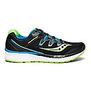 Mens Saucony Triumph ISO 4 Running Shoe - Black/Slime/Blue 7.5