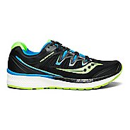 Mens Saucony Triumph ISO 4 Running Shoe - Black/Slime/Blue 9.5