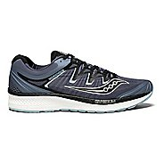 Mens Saucony Triumph ISO 4 Running Shoe - Grey/Black 12.5