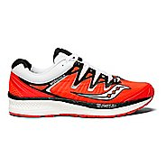 Womens Saucony Triumph ISO 4 Running Shoe - Red/Black/White 7