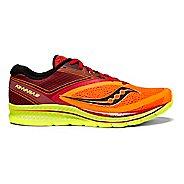 Mens Saucony Kinvara 9 Running Shoe - Orange/Red/Black 11