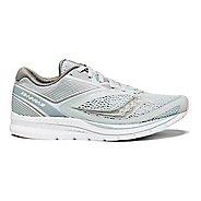 Womens Saucony Kinvara 9 Running Shoe - Grey/White 10.5
