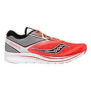 Womens Saucony Kinvara 9 Running Shoe - Red/White 8