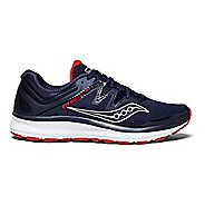 Mens Saucony Guide ISO Running Shoe - Navy/Red 15