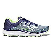 Womens Saucony Guide ISO Running Shoe - Fog/Purple 9.5