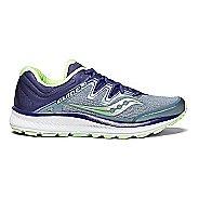 Womens Saucony Guide ISO Running Shoe - Slate/Peach 10.5