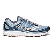 Womens Saucony Guide ISO Running Shoe - Slate/Peach 7.5