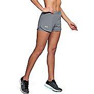 Womens Under Armour Speedpocket 2-in-1 Shorts - Steel XL