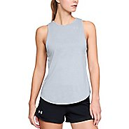 Womens Under Armour Threadborne Streaker Open Back Sleeveless & Tank Tops Technical Tops - Steel L