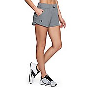 Womens Under Armour TB French Terry Unlined Shorts - Steel L