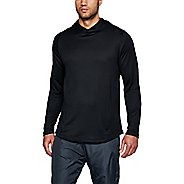 Mens Under Armour MK-1 Terry Popover Half-Zips & Hoodies Technical Tops - Black/Graphite M