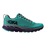 Womens Hoka One One Challenger ATR 4 Trail Running Shoe - Pool Blue/Grape 8