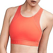 Womens Under Armour Breathelux Fashion Mid Sports Bras - Marathon Red XL
