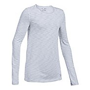 Under Armour Threadborne Seamless Long Sleeve Technical Tops - White YL