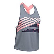 Womens Under Armour Sport 2.0 Graphic Swing Sleeveless & Tank Tops Technical Tops - Steel/Coral S