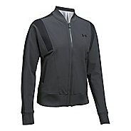 Womens Under Armour Mixed Media Woven Bomber Casual Jackets
