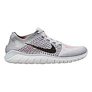 Mens Nike Free RN Flyknit 2018 Running Shoe - White/Crimson 9.5