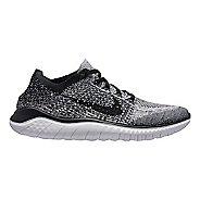 Mens Nike Free RN Flyknit 2018 Running Shoe - White/Black 10.5