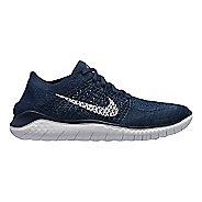 Mens Nike Free RN Flyknit 2018 Running Shoe - Navy 11.5