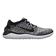 Womens Nike Free RN Flyknit 2018 Running Shoe - White/Black 11