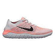 Womens Nike Free RN Flyknit 2018 Running Shoe - White/Crimson 6