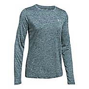 Womens Under Armour Tech Crew Twist Long Sleeve Technical Tops - Arden Green XS