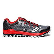 Mens Saucony Peregrine 8 Trail Running Shoe - Black/Red 9.5