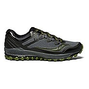 Mens Saucony Peregrine 8 Trail Running Shoe - Grey/Green 9