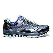 Womens Saucony Peregrine 8 Trail Running Shoe - Grey/Aqua 5.5