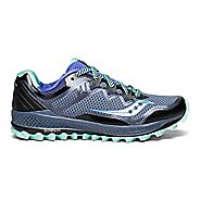 Womens Saucony Peregrine 8 Trail Running Shoe - Grey/Aqua 9.5