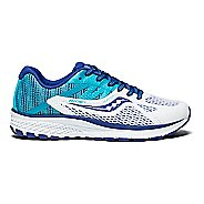 Kids Saucony Ride 10 Running Shoe - Blue/White 4.5Y