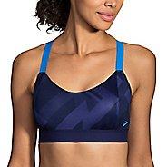 Womens Brooks Hot Shot Sports Bras - Navy Eclipse XL