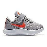 Kids Nike Flex Contact Running Shoe - Grey/Crimson 6C