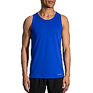 Mens Brooks Ghost Sleeveless & Tank Technical Tops - Royal L